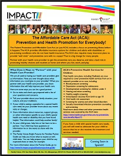 The Affordable Care Act (ACA): Prevention and Health Promotion for Everybody!