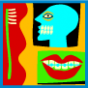 icon of oral health images - toothbrush, teeth, etc