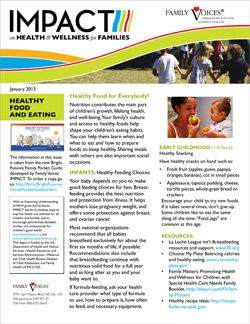 Healthy Food and Eating Theme Update - January 2013