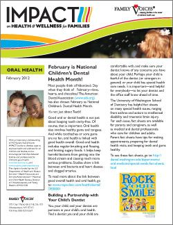 Oral Health Theme Update - February 2012