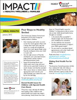 Oral Health Theme Update - January 2012