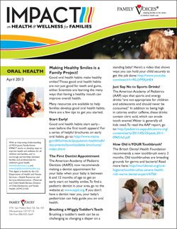 Oral Health Theme Update - April 2013