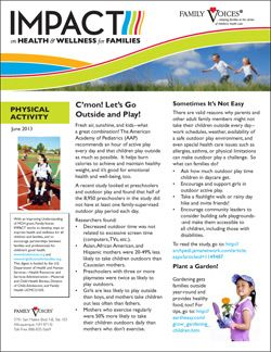 Physical Activity Theme Update - June 2013