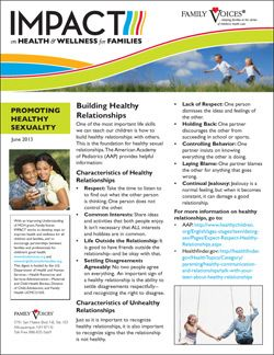 Healthy Sexual Development & Sexuality Update - June 2013